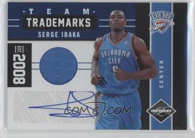 2011-12 Limited - Team Trademarks Materials Signatures #11 - Serge Ibaka /99