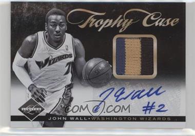 2011-12 Limited - Trophy Case - Materials Signatures Prime [Autographed] [Memorabilia] #26 - John Wall /25