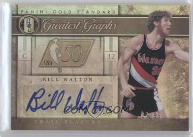 2011-12 Panini Gold Standard - Greatest Graphs #GG-33 - Bill Walton /99