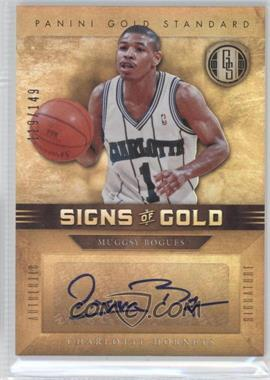 2011-12 Panini Gold Standard - Signs of Gold #SG-100 - Muggsy Bogues /149