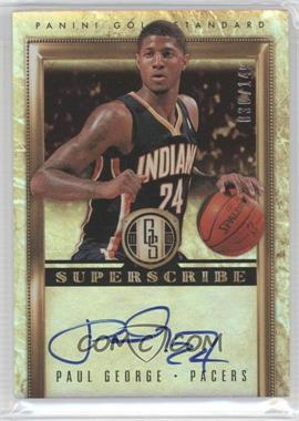 2011-12 Panini Gold Standard - Superscribe Signatures #12 - Paul George /149