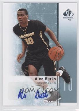 2011-12 SP Authentic - [Base] - Autograph [Autographed] #18 - Alec Burks