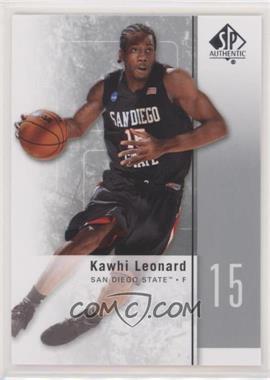 2011-12 SP Authentic - [Base] #27 - Kawhi Leonard