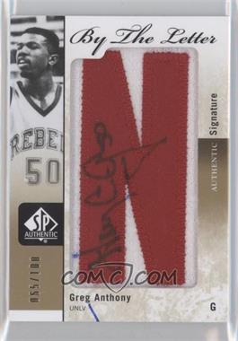 2011-12 SP Authentic - By the Letter Signatures #BL-GA - Greg Anthony /100