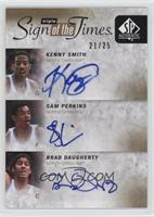 Sam Perkins, Kenny Smith, Brad Daugherty /25