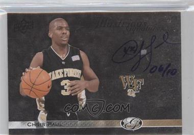 2011 Upper Deck All-Time Greats - Illustrious Signatures - [Autographed] #IS-CP5 - Chris Paul