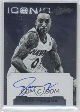 2012-13 Absolute - Iconic Autographs #28 - Jeff Teague /99