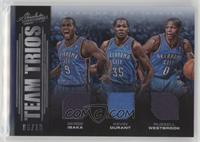 Serge Ibaka, Kevin Durant, Russell Westbrook #/10