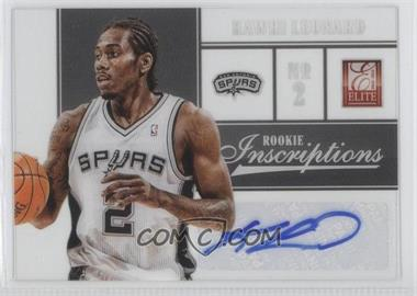 2012-13 Elite - Rookie Inscriptions #43 - Kawhi Leonard