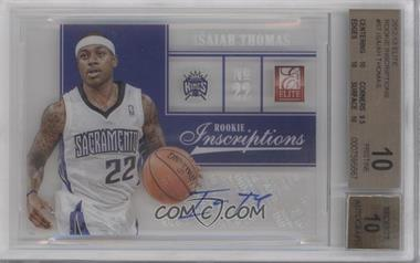 2012-13 Elite - Rookie Inscriptions #57 - Isaiah Thomas [BGS 10]