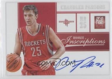 2012-13 Elite - Rookie Inscriptions #7 - Chandler Parsons