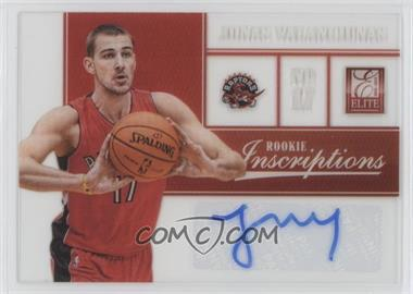 2012-13 Elite - Rookie Inscriptions #81 - Jonas Valanciunas
