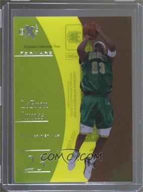 2012-13 Fleer Retro - 1997-98 Fleer EX 2001 Essential Credentials Now #EX-42 - LeBron James /42