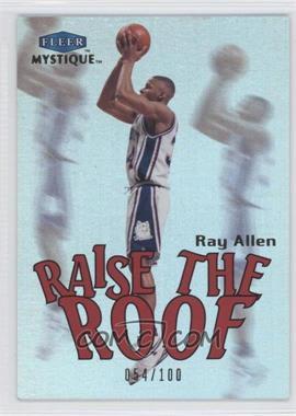 2012-13 Fleer Retro - 1999-00 Fleer Mystique Raise the Roof #13 RR - Ray Allen /100