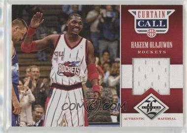 2012-13 Limited - Curtain Call Materials #11 - Hakeem Olajuwon /199
