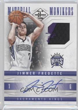 2012-13 Limited - Material Monikers - Prime #25 - Jimmer Fredette /25