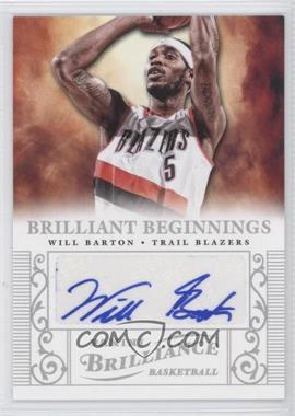 2012-13 Panini Brilliance - Brilliant Beginnings Autographs - [Autographed] #58 - Will Barton