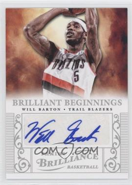 2012-13 Panini Brilliance - Brilliant Beginnings Autographs #58 - Will Barton