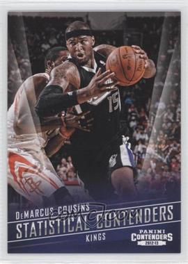 2012-13 Panini Contenders - Statistical Contenders #13 - DeMarcus Cousins