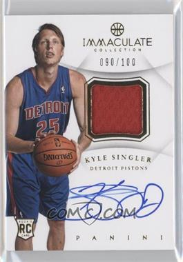 acc02cb96cf5 2012-13 Panini Immaculate Collection - Autograph Patches -  Autographed    AP-KS - Kyle Singler  100