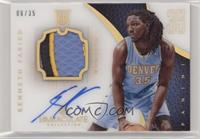Rookie Patch Autograph - Kenneth Faried #/35