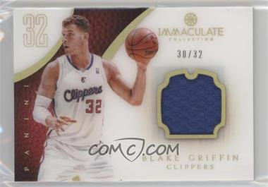 2012-13 Panini Immaculate Collection - [Base] - Jersey Number #42 - Blake Griffin /32