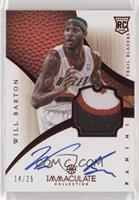Rookie Patch Autograph - Will Barton #/25
