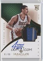 Rookie Patch Autograph - Gustavo Ayon #/99