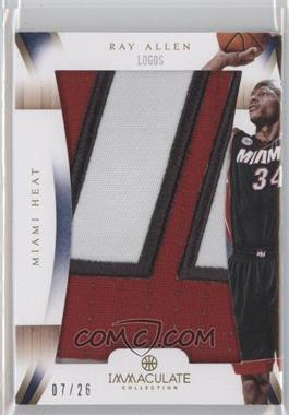 2012-13 Panini Immaculate Collection - Immaculate Patches - Logos #IP-AL - Ray Allen /26