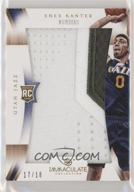 2012-13 Panini Immaculate Collection - Immaculate Patches - Numbers #IP-EK - Enes Kanter /18
