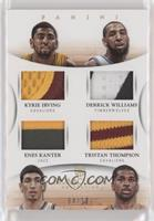 Derrick Williams, Enes Kanter, Kyrie Irving, Tristan Thompson #/10