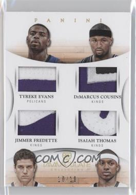 2012-13 Panini Immaculate Collection - Immaculate Quad Materials - Prime #6 - DeMarcus Cousins, Isaiah Thomas, Tyreke Evans, Jimmer Fredette /10
