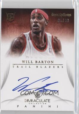 2012-13 Panini Immaculate Collection - Inscriptions #IN-WL - Will Barton /99