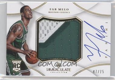 2012-13 Panini Immaculate Collection - Premium Patches Signatures #PP-FM - Fab Melo /75