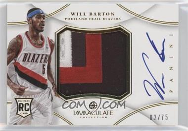 2012-13 Panini Immaculate Collection - Premium Patches Signatures #PP-WL - Will Barton /75