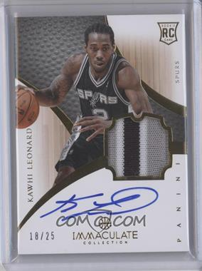 2012-13 Panini Immaculate Collection - Rookie Patch Signatures Veterans #187KWLE - Kawhi Leonard /25