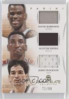 David Robinson, John Stockton, Scottie Pippen #/99