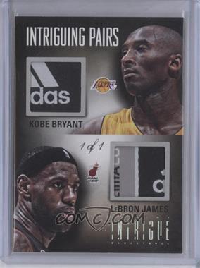 2012-13 Panini Intrigue - Intriguing Pairs Materials - Laundry Tags Prime #33 - LeBron James, Kobe Bryant /1