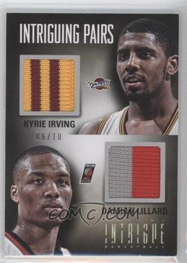 2012-13 Panini Intrigue - Intriguing Pairs Materials - Prime #28 - Damian Lillard, Kyrie Irving /10