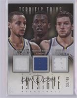 David Lee, Harrison Barnes, Stephen Curry [Near Mint‑Mint] #33/49