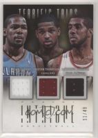 Kevin Durant, LaMarcus Aldridge, Tristan Thompson #/49