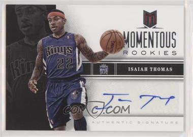 2012-13 Panini Momentum - Momentous Rookies Autographs #77 - Isaiah Thomas