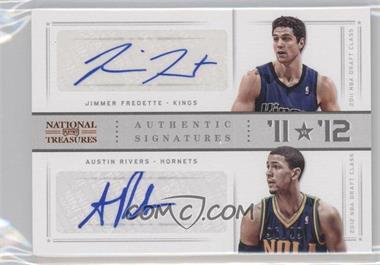 2012-13 Panini National Treasures - '11 vs '12 Signatures - [Autographed] #10 - Austin Rivers, Jimmer Fredette /99
