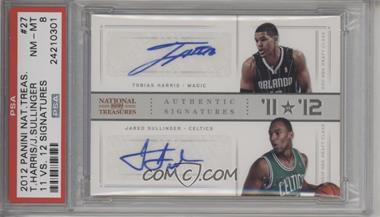 2012-13 Panini National Treasures - '11 vs '12 Signatures - [Autographed] #27 - Jared Sullinger, Tobias Harris /99 [PSA 8 NM‑MT]