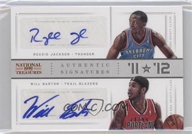 2012-13 Panini National Treasures - '11 vs '12 Signatures - [Autographed] #84 - Reggie Jackson, Will Barton /99