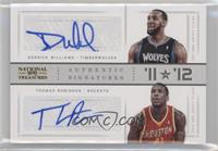 Derrick Williams, Thomas Robinson /25