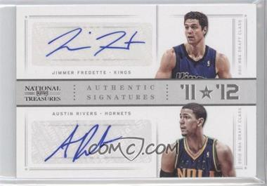 2012-13 Panini National Treasures - '11 vs '12 Signatures - Silver #10 - Austin Rivers, Jimmer Fredette /49