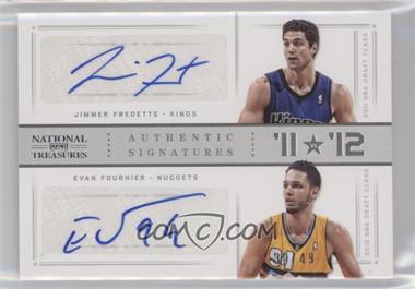 2012-13 Panini National Treasures - '11 vs '12 Signatures - Silver #80 - Evan Fournier, Jimmer Fredette /49