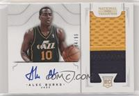 2011 Rookies Autographed Memorabilia - Alec Burks #/99
