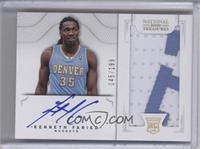 2011 Rookies Autographed Memorabilia - Kenneth Faried #/199